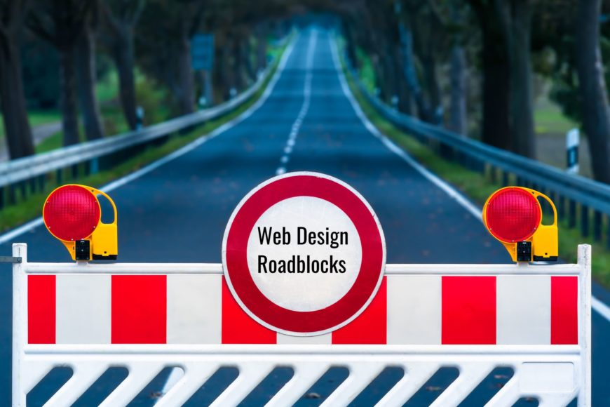 Web design roadblocks