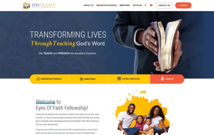 Eyes of Faith Fellowship - Desktop View