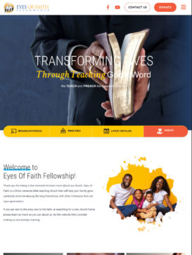 Eyes of Faith Fellowship - Tablet View