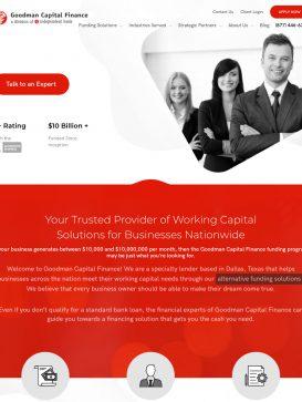 Goodman Capital Finance - Home Tablet
