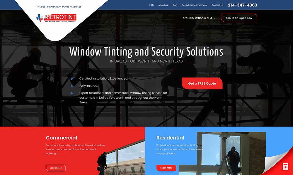 MetroTint - Home Page 1
